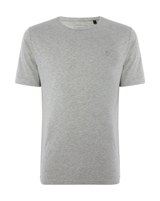 Perry Ellis   Gray Wide Logo Short Sleeve T-shirt for Men   Lyst