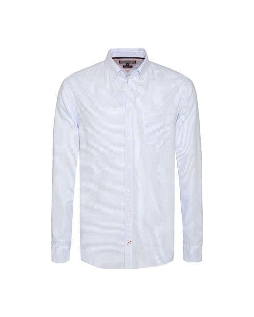 Tommy Hilfiger - Blue Men's Mixed Ithaca Stripe Shirt for Men - Lyst