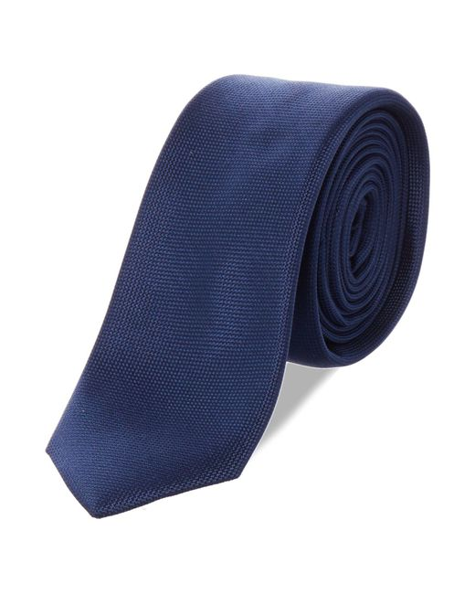 Kenneth Cole - Blue Wyndham Solid Silk Tie for Men - Lyst
