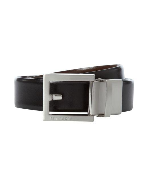 Ted Baker - Black Reversible Logo Plaque Belt for Men - Lyst