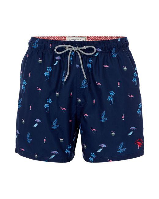 Ted Baker - Blue Men's Gutsy Tropical Print Swim Shorts for Men - Lyst