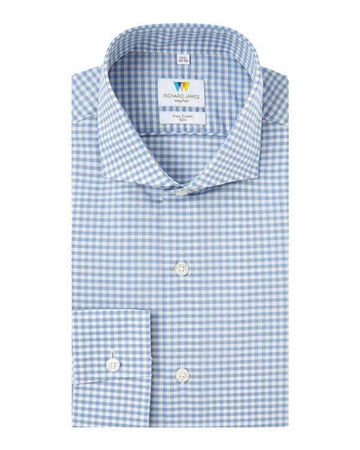 Richard James - Blue Bold Gingham Slim Fit Shirt for Men - Lyst