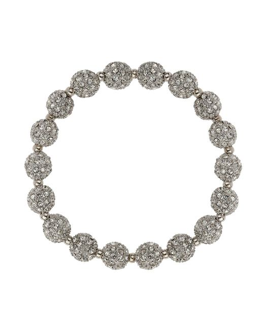 Mikey - White Crystal Small Heavy Bracelet - Lyst