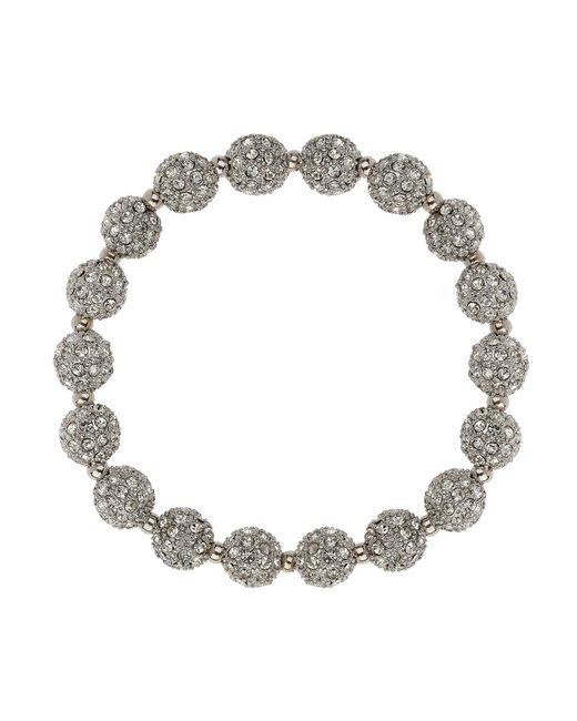 Mikey | Metallic Crystal Small Heavy Bracelet | Lyst