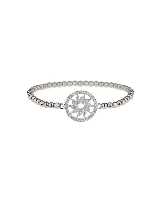 Mikey | Metallic Fine Cubic Sun Disc Elastic Bracelet | Lyst