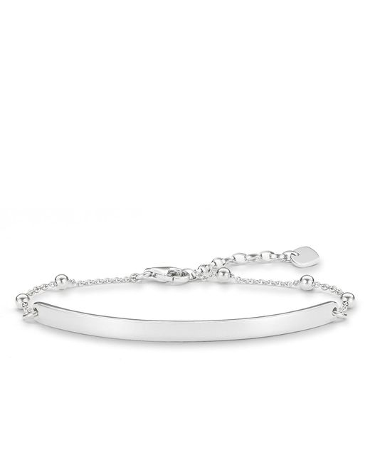 Thomas Sabo - Metallic Love Bridge Heart Diamond Silver Bracelet - Lyst