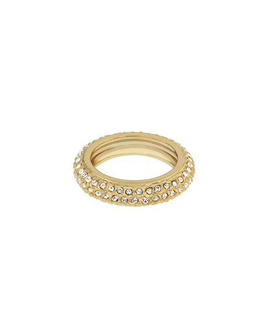 Aurora Flash | Metallic Gold Plated Eternity Crystal Ring | Lyst