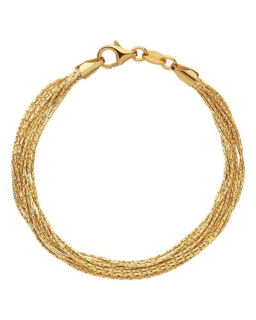 Links of London - Metallic Essentials Gold Silk 10 Row Bracelet - Lyst