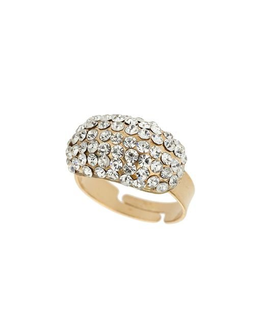 Mikey - Metallic S Oblong Ring - Lyst