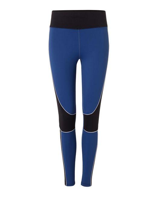 Label Lab - Blue Navy Colourblock Gym Leggings - Lyst