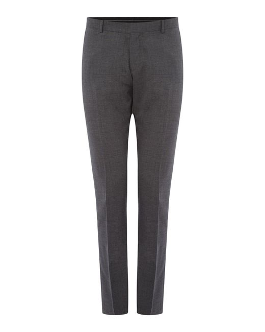 SELECTED - Gray Mylo Don Plain Weave Suit Trousers for Men - Lyst