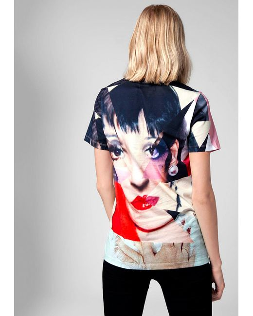 House of holland liza minelli t shirt in multicolor lyst for House of liza