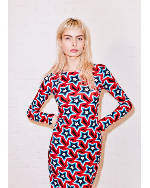 Womens All Over Star Bodycon Dress House Of Holland fJPDKGmLr