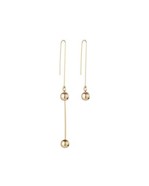 Jenny Bird | Metallic Gold Asymmetrical Ziggy Drops Earrings | Lyst