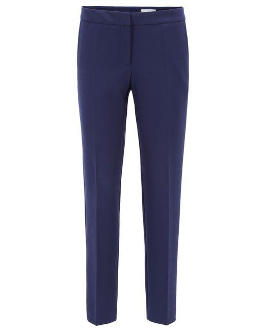 BOSS - Blue Regular-fit Trousers In Portuguese Stretch Fabric - Lyst