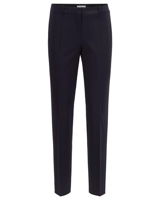 BOSS Blue Slim-fit Cropped Trousers