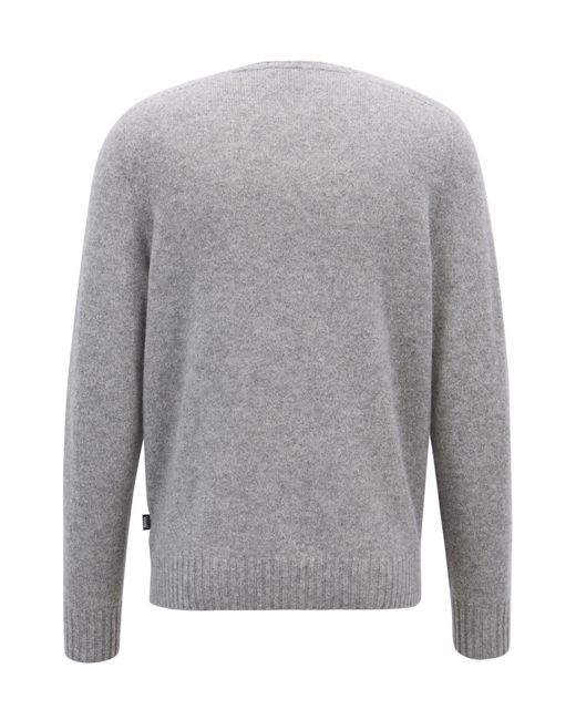 59ebcd47602 Lyst - BOSS Cashmere Sweater With Seam-free Design in Metallic for Men