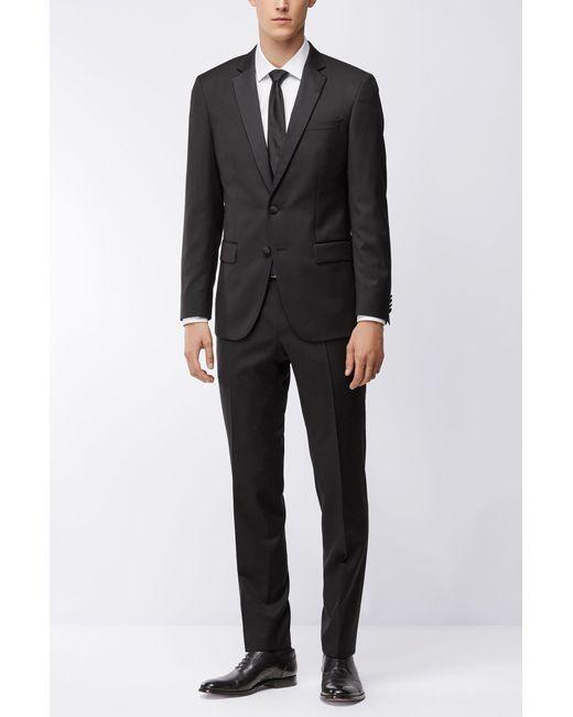 b1e8e98a ... BOSS - Black Italian Super 120 Wool Suit Jacket, Slim Fit | Hence Cyl  for ...