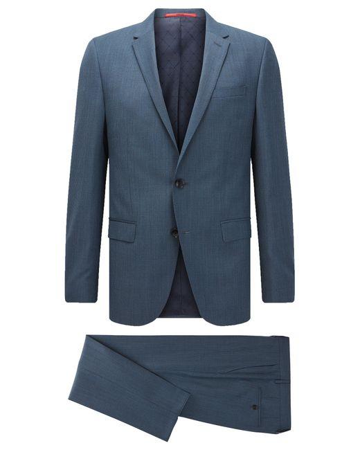 HUGO | Blue 'c-harvey/c-getlin' | Stretch Virgin Wool Blend Suit for Men | Lyst