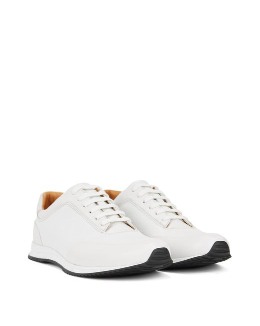 57e2d9bf549 ... BOSS - White Lace-up Sneakers In Printed Calf Leather for Men - Lyst ...