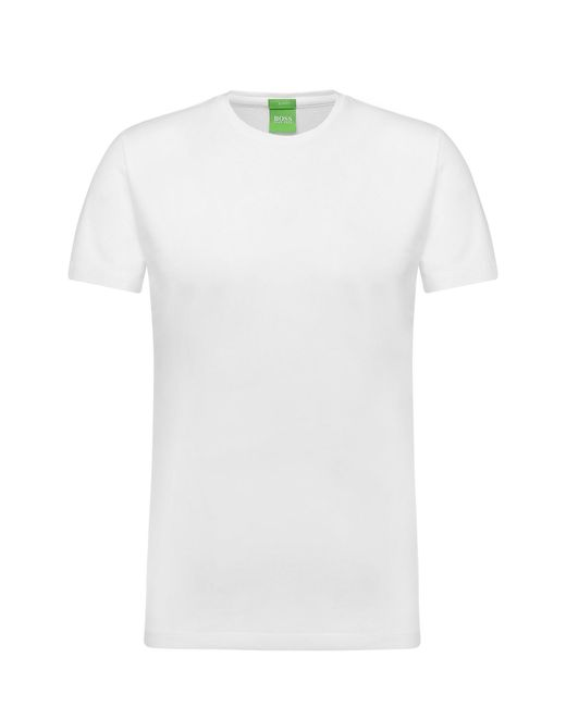 BOSS Green | White Pure Cotton T-shirt: 'c-lecco' for Men | Lyst