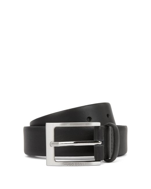 BOSS Black Finely Grained Leather Belt: 'brondon' for men