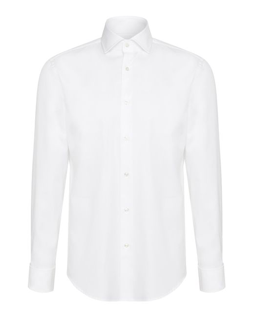 BOSS | White Regular-fit Cotton Shirt: 'gardner' for Men | Lyst