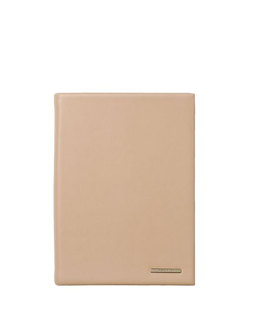 BOSS - Natural A6 Notebook With Nude Faux-leather Case And Logo Plate - Lyst