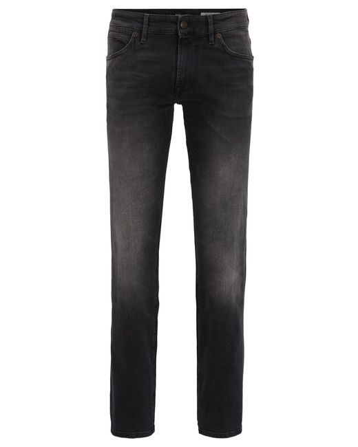 BOSS Orange   Regular-fit Jeans In Black Comfort-stretch Denim for Men   Lyst