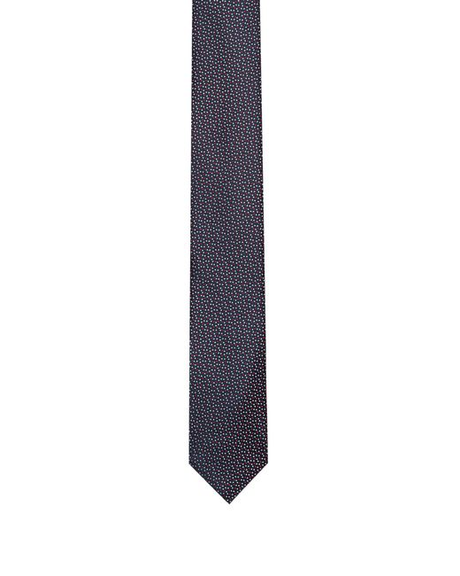 HUGO - Red Silk Tie With Dot Pattern for Men - Lyst