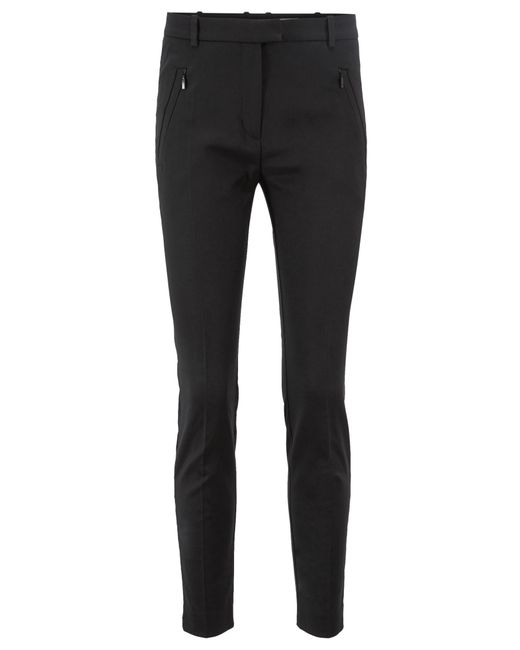 BOSS Black Slim Fit Trousers In Stretch Fabric: 'anaita5'
