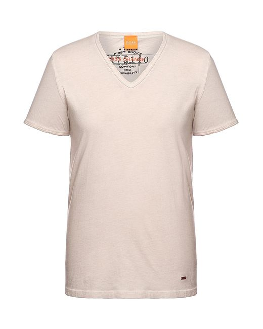 BOSS Orange | Gray Regular-fit T-shirt In Garment-dyed Cotton By for Men | Lyst