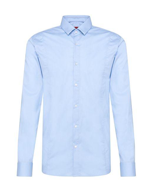 HUGO | Blue Slim-fit Shirt In Stretch Cotton: 'etello' for Men | Lyst