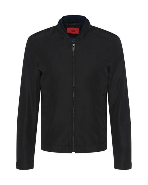 HUGO | Black Regular-fit Jacket In Water-repellent Material: 'balkin' for Men | Lyst