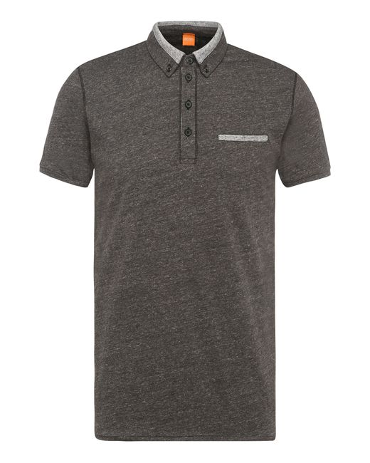 BOSS Orange | Gray 'pyx' | Slim Fit, Cotton Melange Polo for Men | Lyst