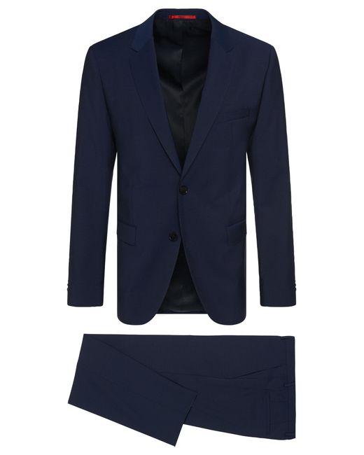 HUGO | Blue 'c-jeffrey/c-simmons' | Slim Fit, Virgin Wool Suit for Men | Lyst