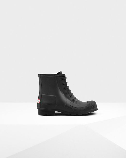 Hunter | Black Men's Original Rubber Lace-up Boots for Men | Lyst