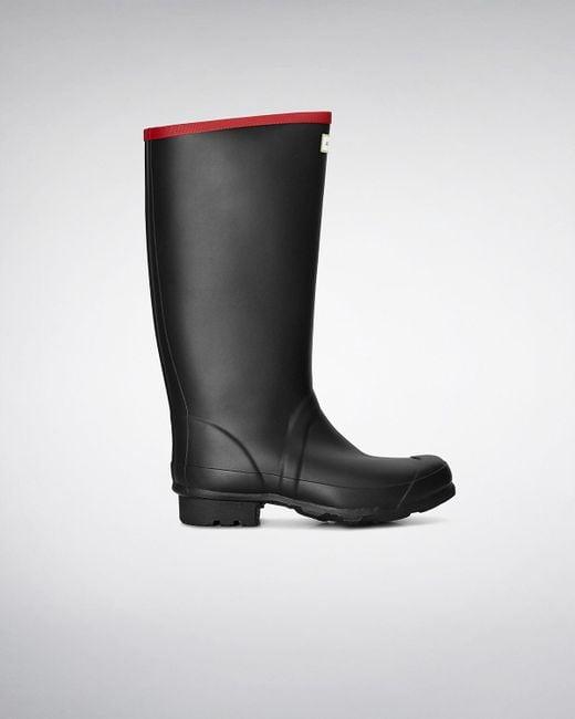 Hunter | Black Argyll Neoprene Wellington Boots for Men | Lyst