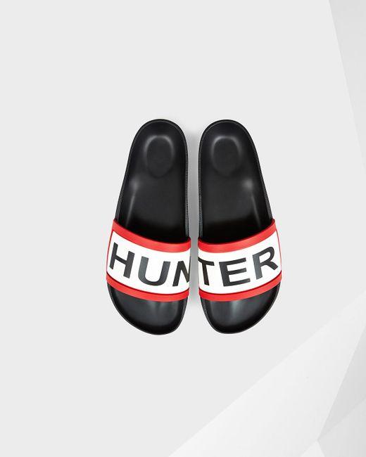 Hunter | Black Slide Sandal for Men | Lyst