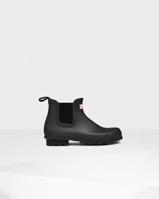 HUNTER | Black Men's Original Canvas Lace-up Derby Boots for Men | Lyst