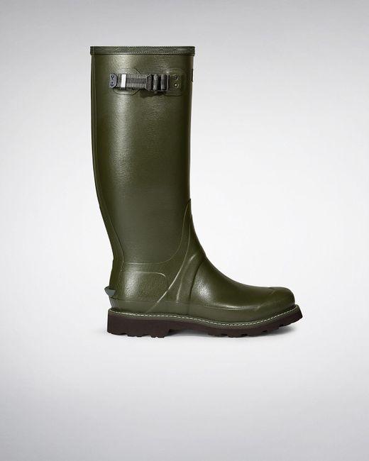 Hunter   Green Men's Balmoral Wellington Boots for Men   Lyst