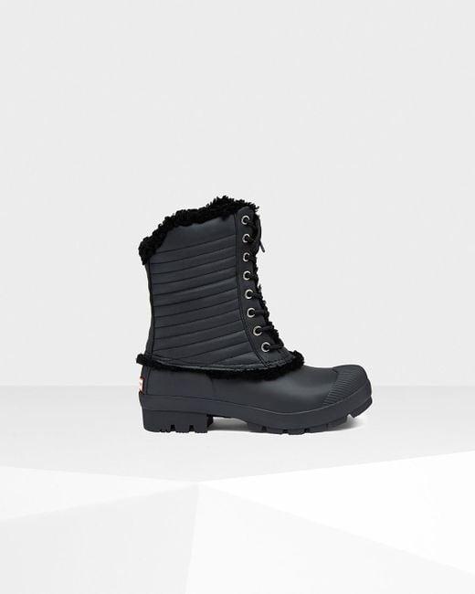 Hunter | Black Original Shearling Pac Boots | Lyst
