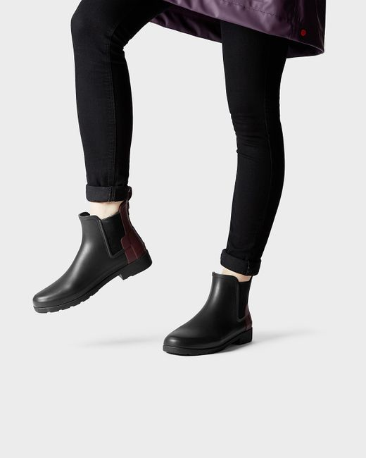Elegant Hunter Original Refined Chelsea Black Womens Boots | TReds