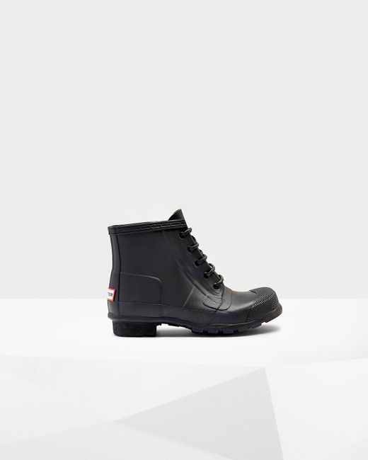 Hunter | Black Women's Original Lace Up Boots | Lyst