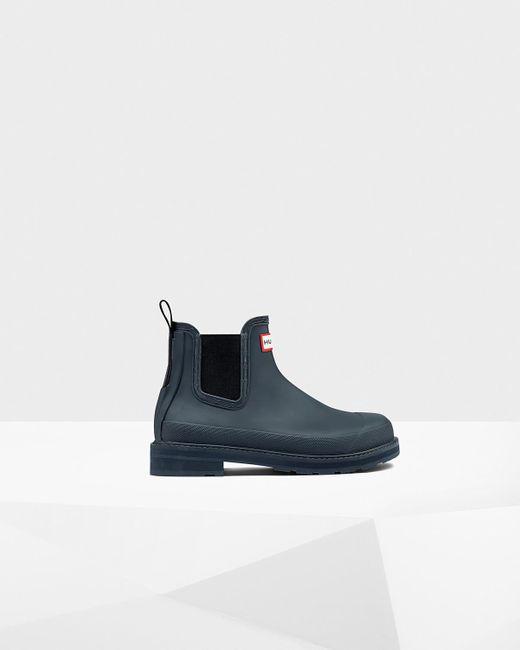 HUNTER | Blue Women's Original Pulltab Lightweight Chelsea Boots | Lyst