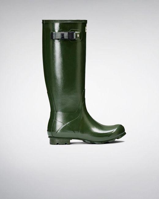 Hunter | Green Women's Norris Field Gloss Rain Boots | Lyst