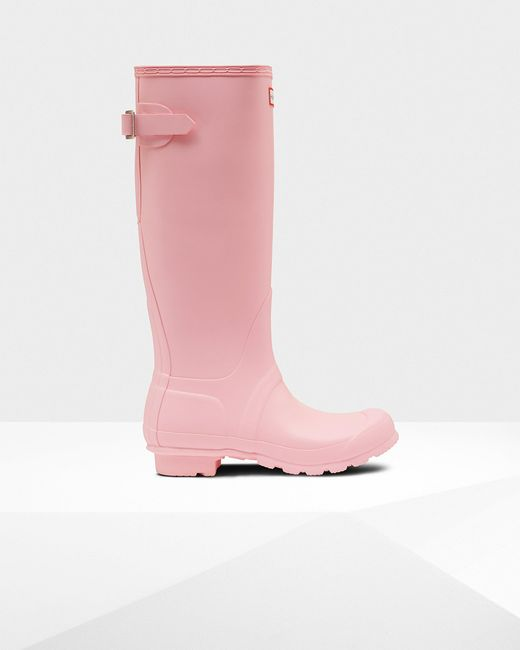 Hunter Pink Women's Original Tall Back Adjustable Wellington Boots