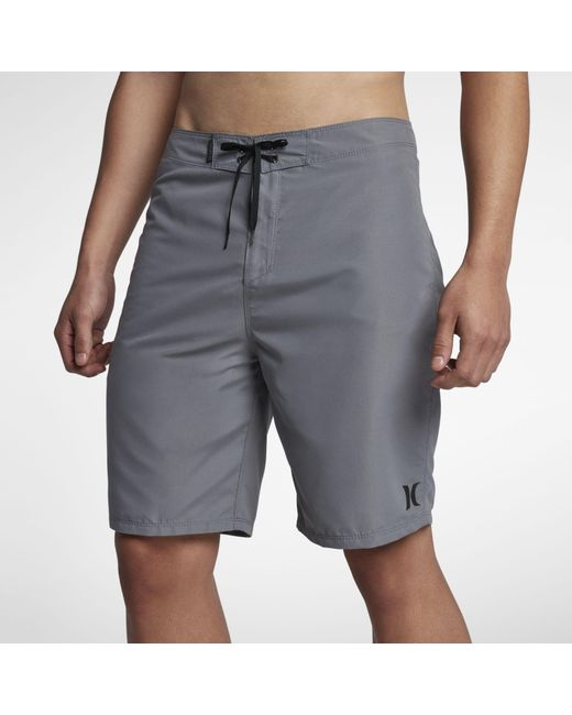 """Hurley Gray One & Only 2.0 21"""" Board Shorts for men"""