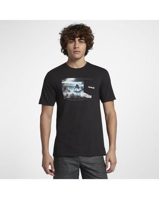 b8118d215ed96f Lyst - Hurley Whitewater Pocket T-shirt in Black for Men