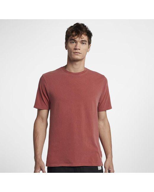 Hurley - Red Destroy Staple T-shirt for Men - Lyst
